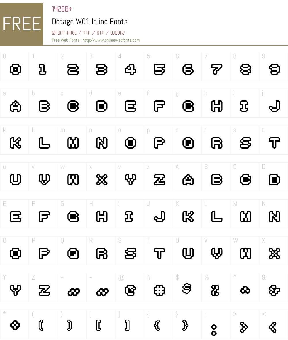 DotageW01-Inline Font Screenshots