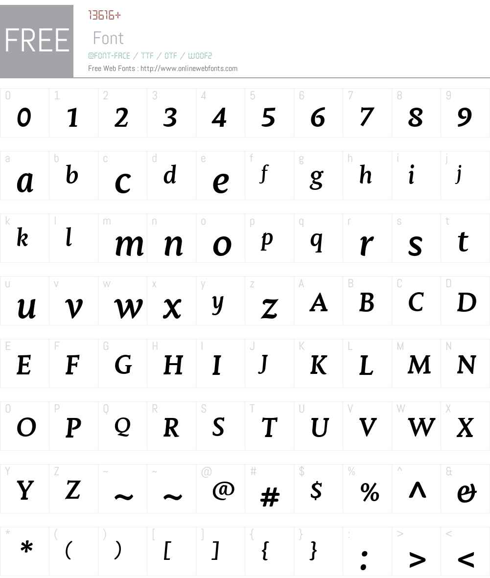 MantikaBookW01-BoldItalic Font Screenshots
