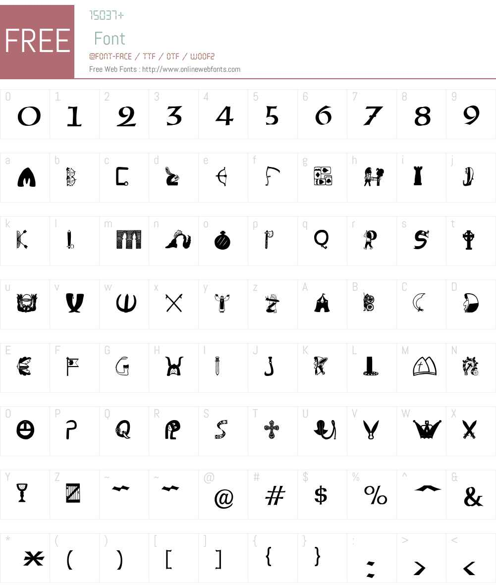 Briaroak Shire Font Screenshots