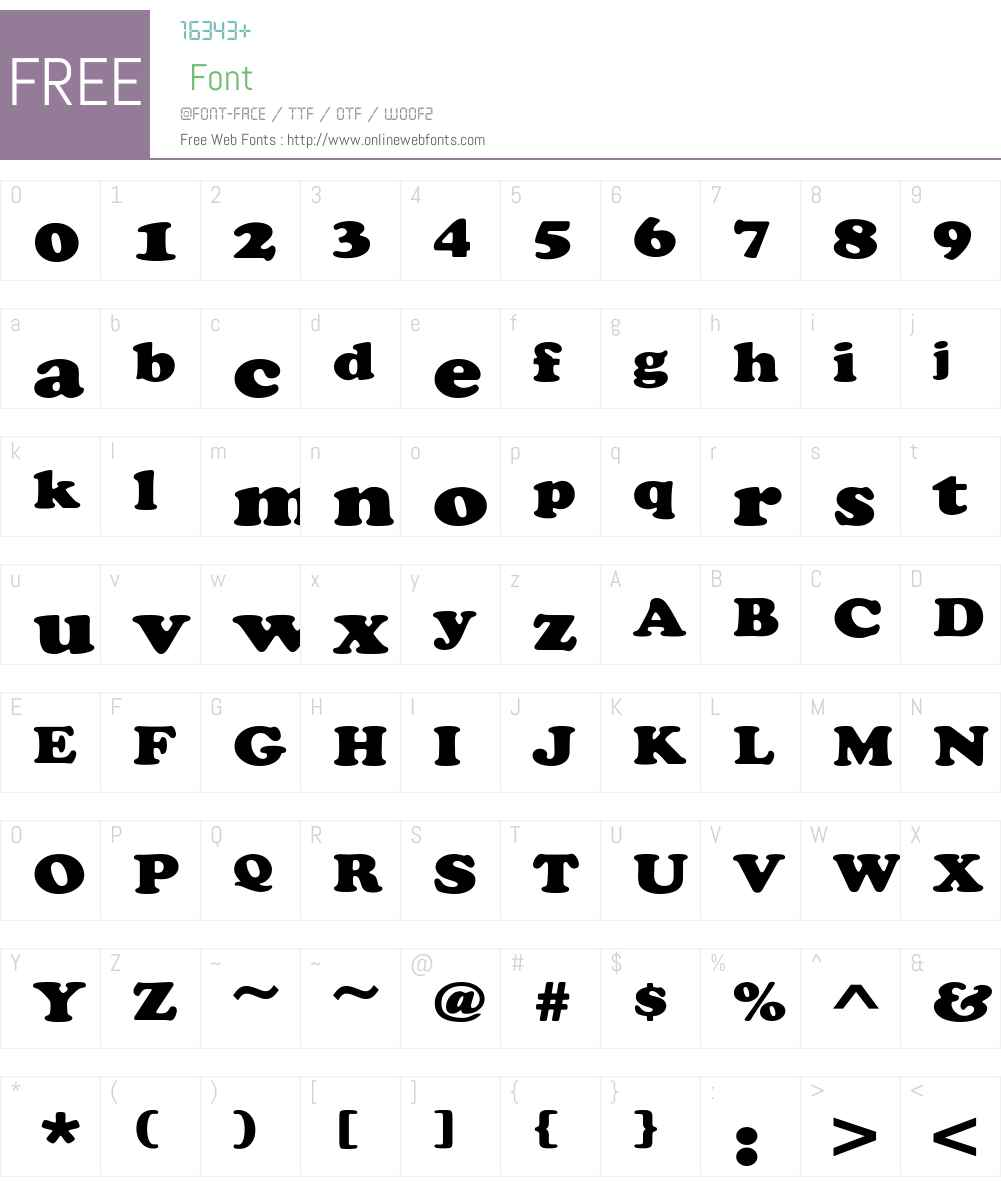 ChaceyExt-Heavy Font Screenshots