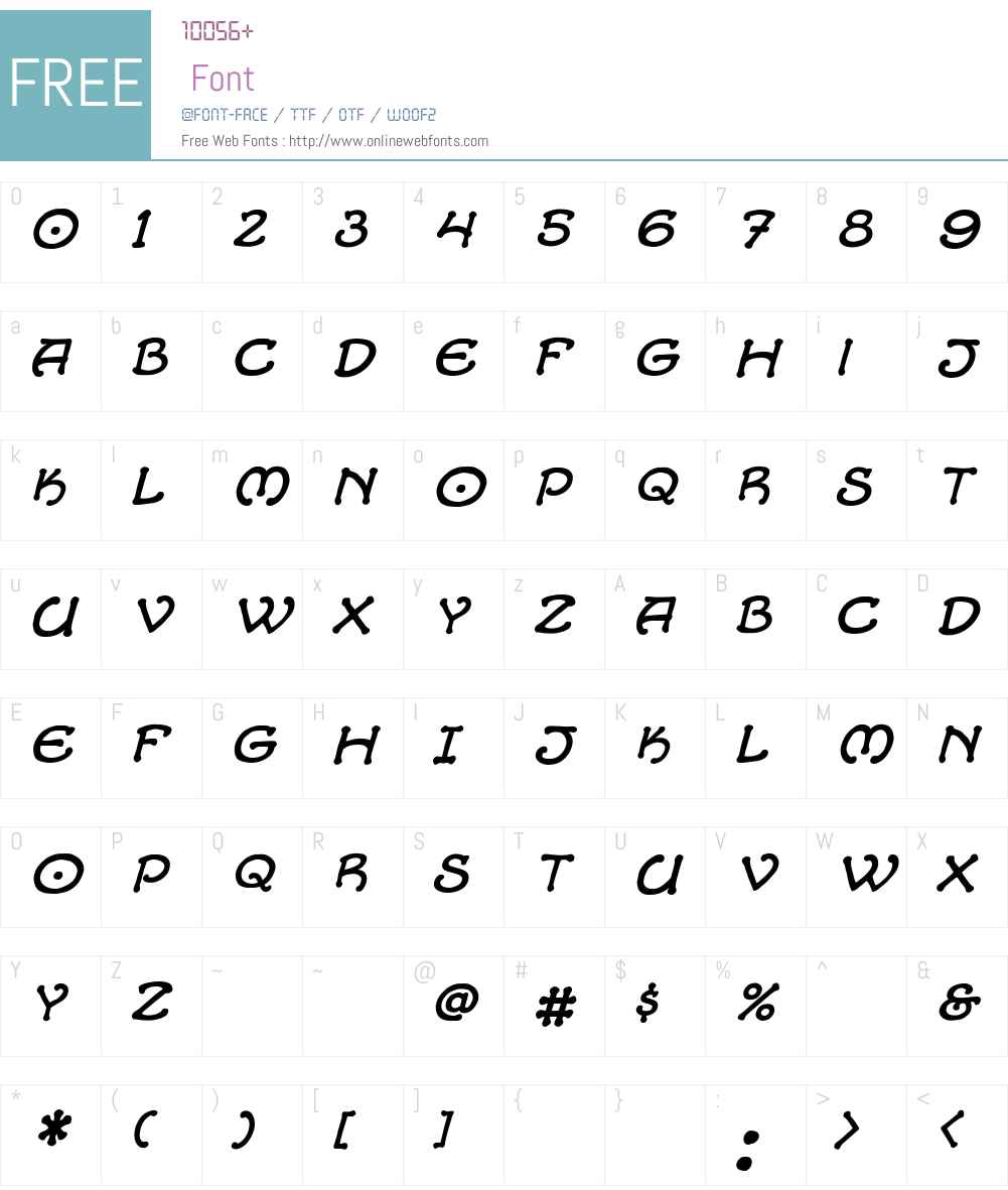 CCAlchemite Font Screenshots