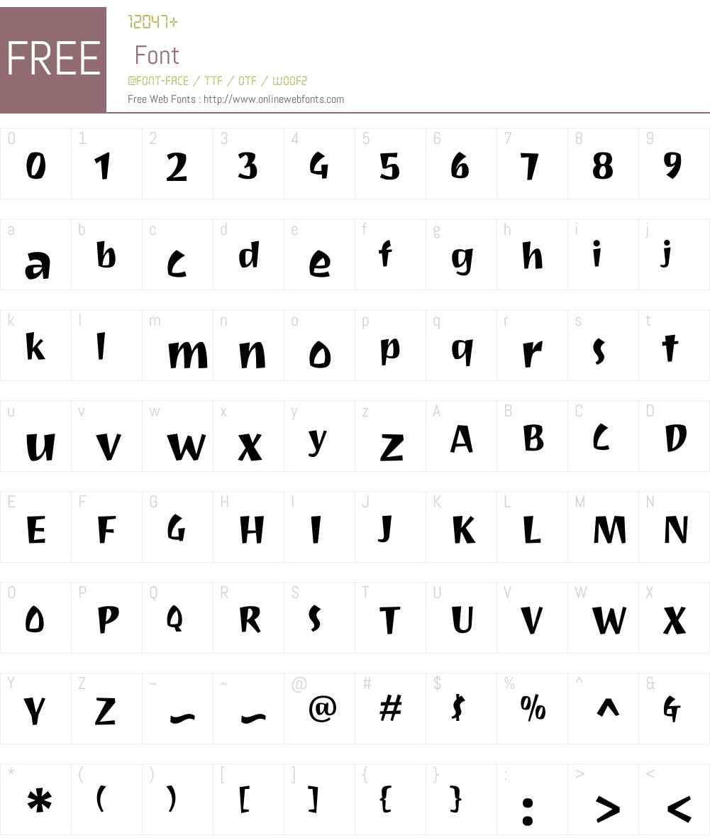 Joti One Font Screenshots