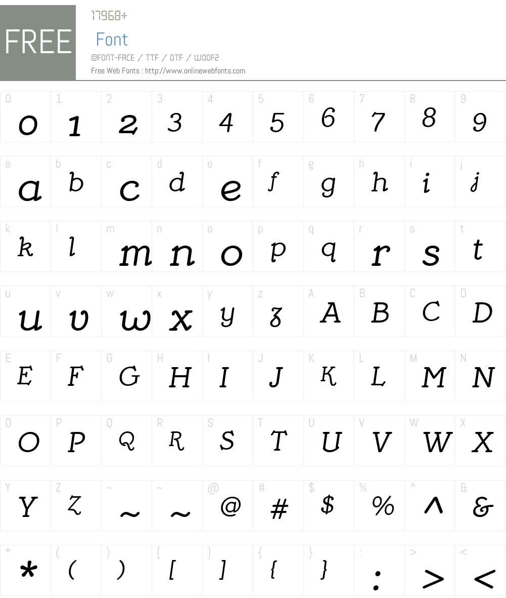 MymraPianoW01-Italic Font Screenshots