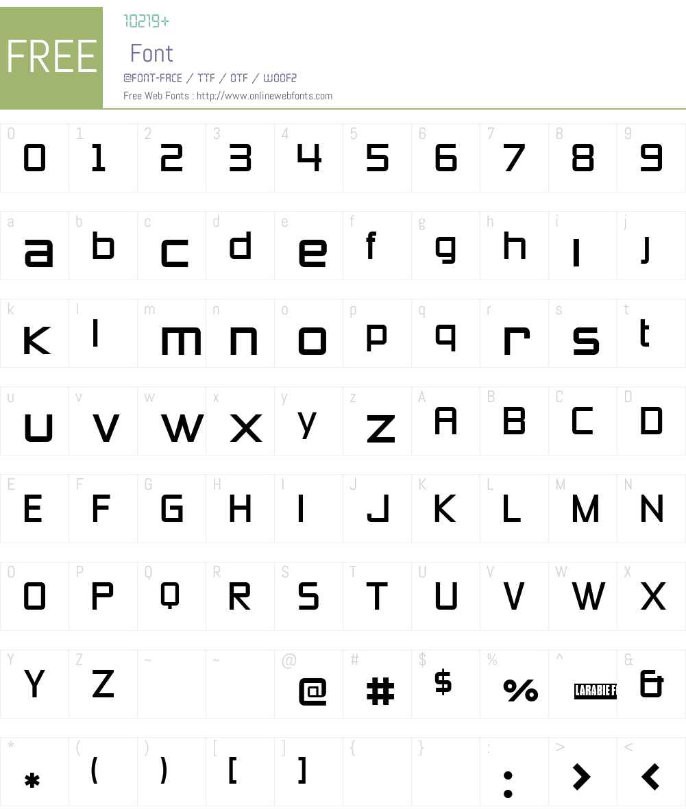 Zeroes Three Font Screenshots