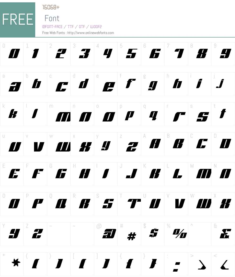 RunwayW00-Regular Font Screenshots
