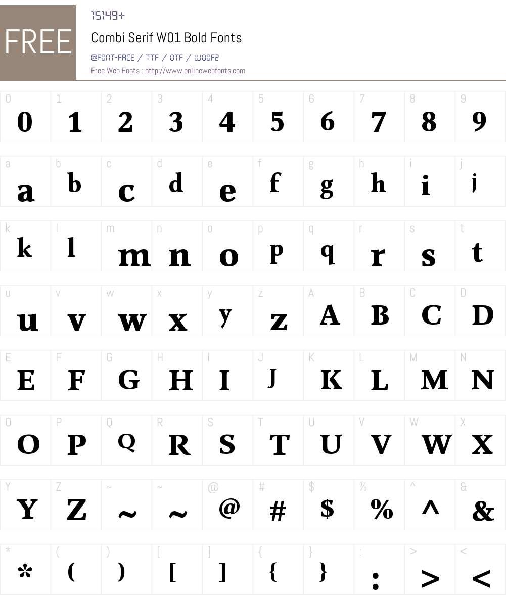 CombiSerifW01-Bold Font Screenshots