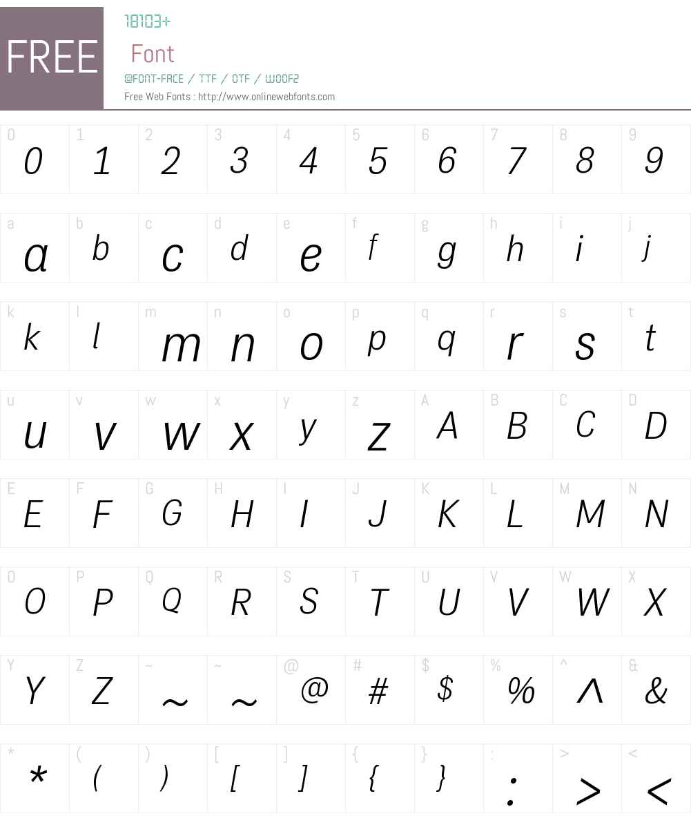 PFDasGroteskW01-LightItalic Font Screenshots