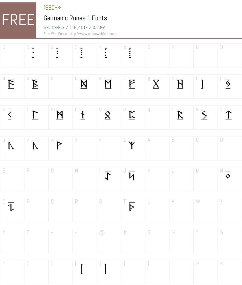 Germanic Runes-1 Font Screenshots