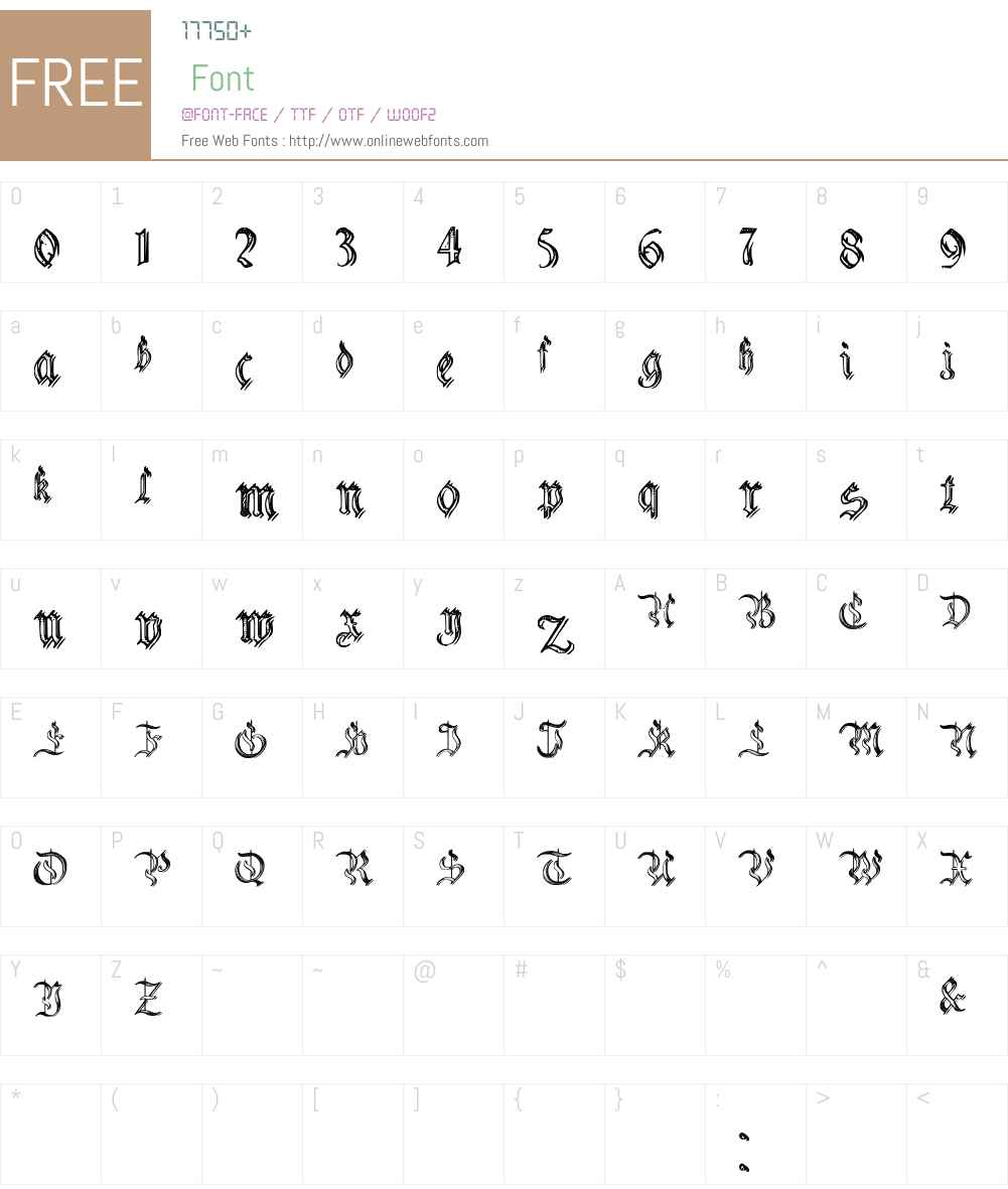 Charterwell No5 Font Screenshots
