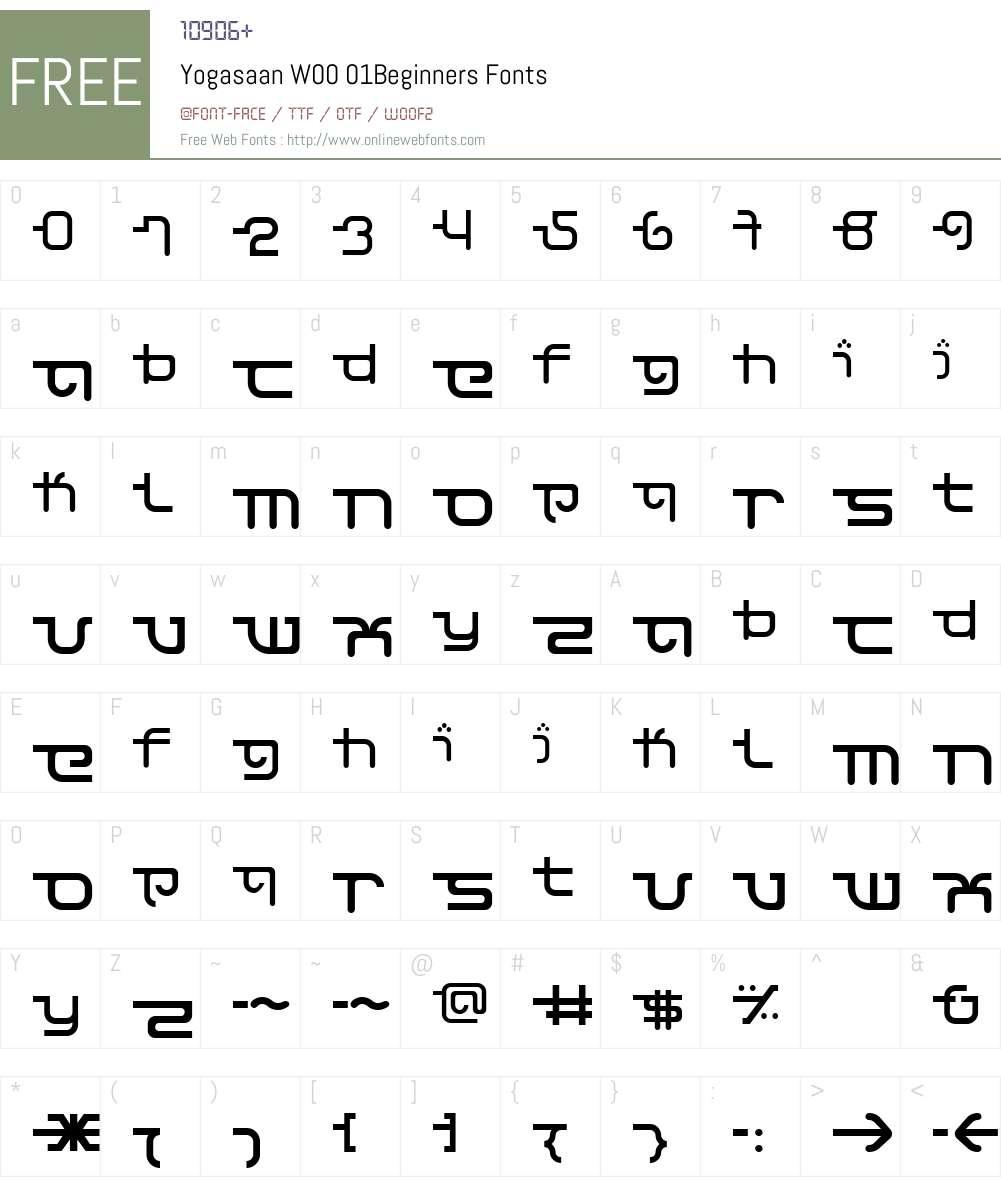 Yogasaan Font Screenshots