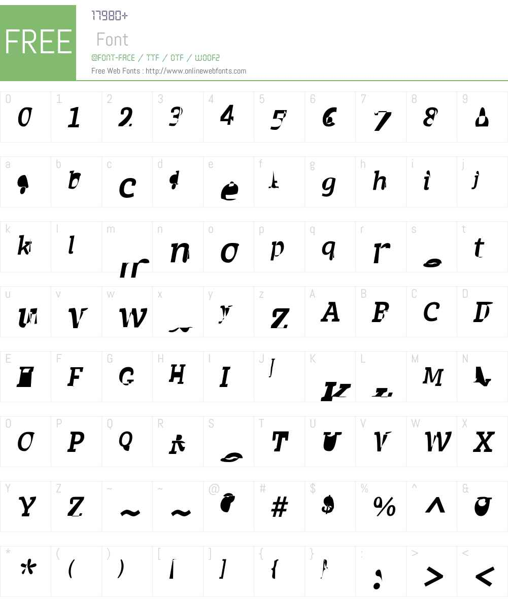 AchilleIIFYW01-BoldItalic Font Screenshots