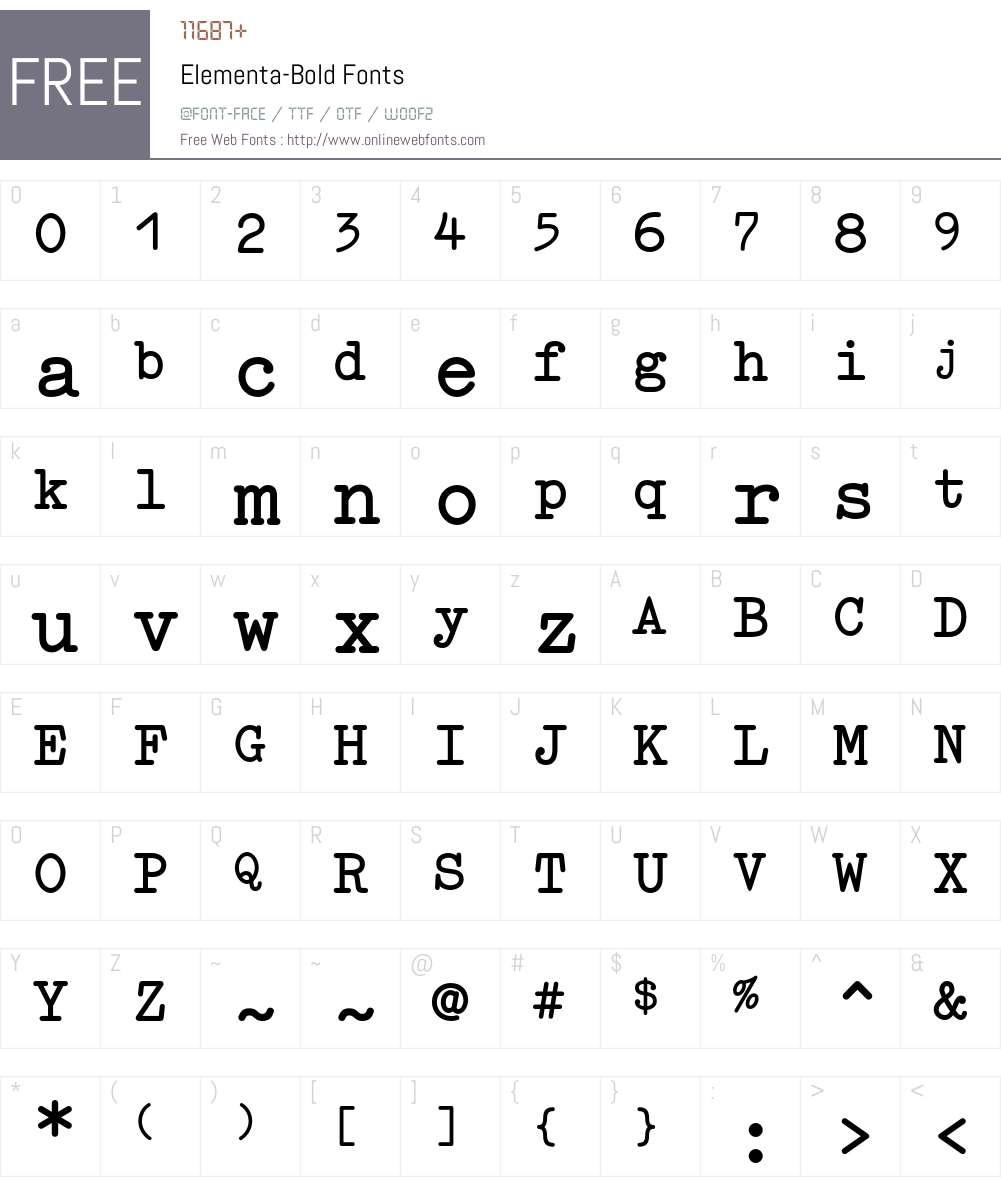 Elementa Font Screenshots