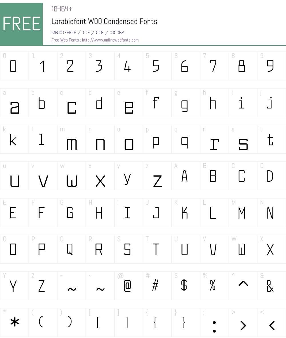 LarabiefontW00-Condensed Font Screenshots