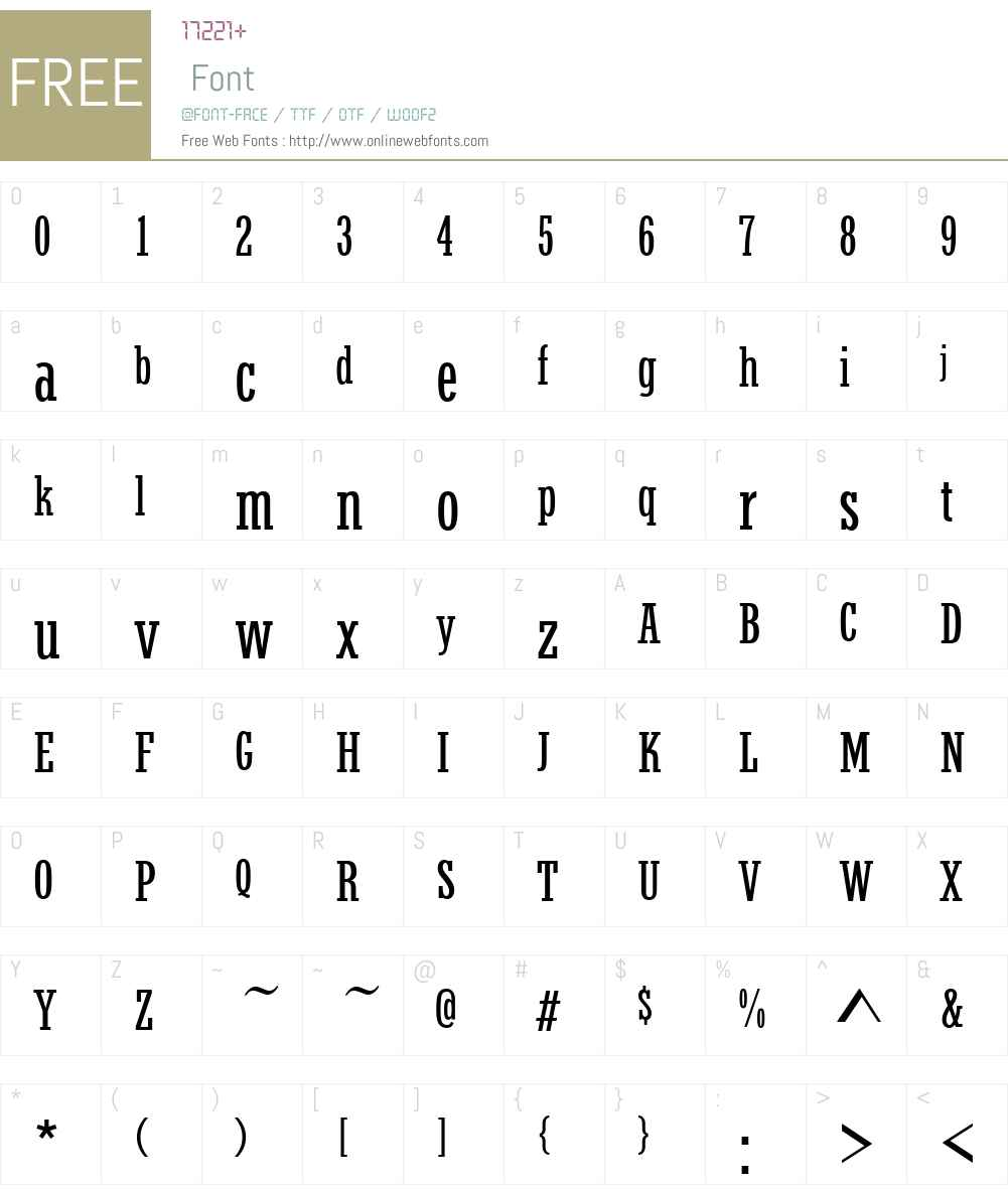 StymieW01-CondensedRegular Font Screenshots