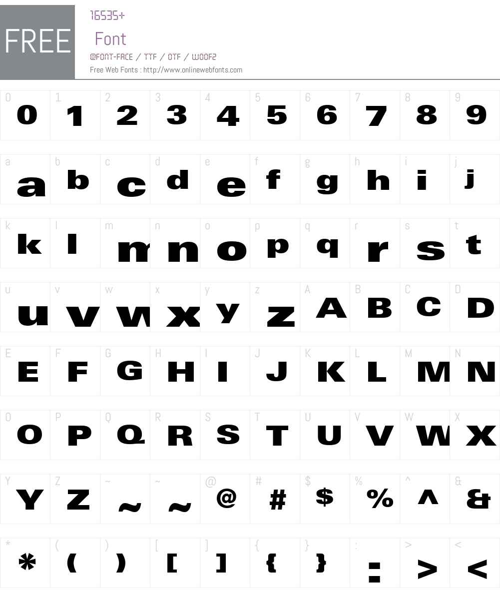 LinotypeUniversW01-XBkEx Font Screenshots