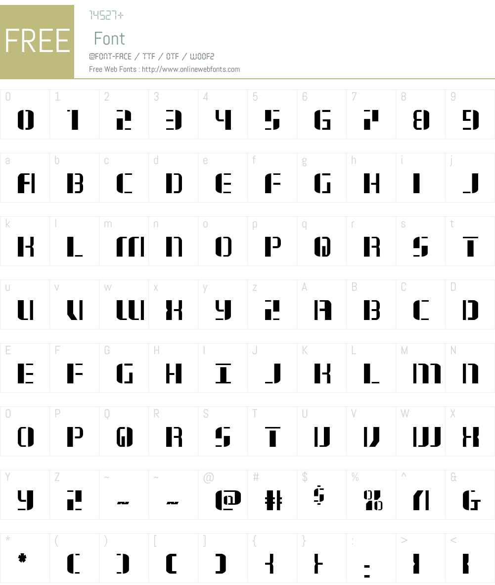 Jetway Font Screenshots