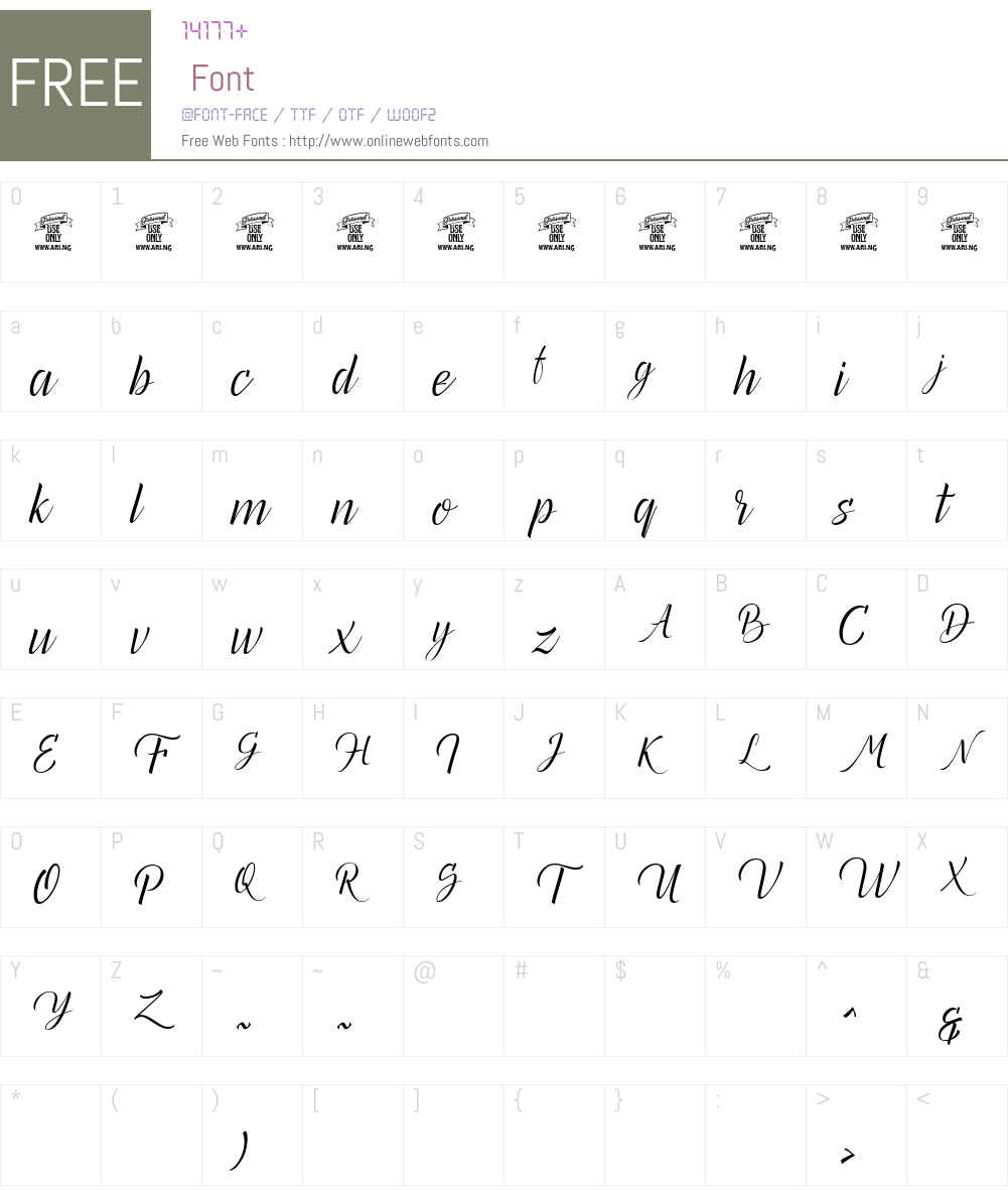 Canela Bark Personal Use Font Screenshots