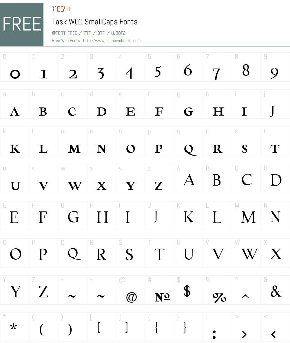 TaskW01-SmallCaps Font Screenshots