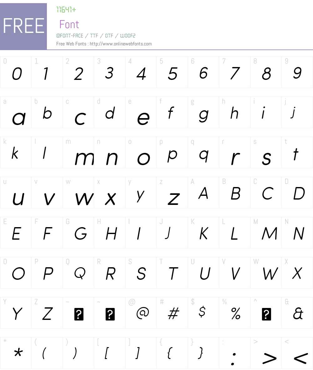 SofiaProSoftW01-LightItalic Font Screenshots