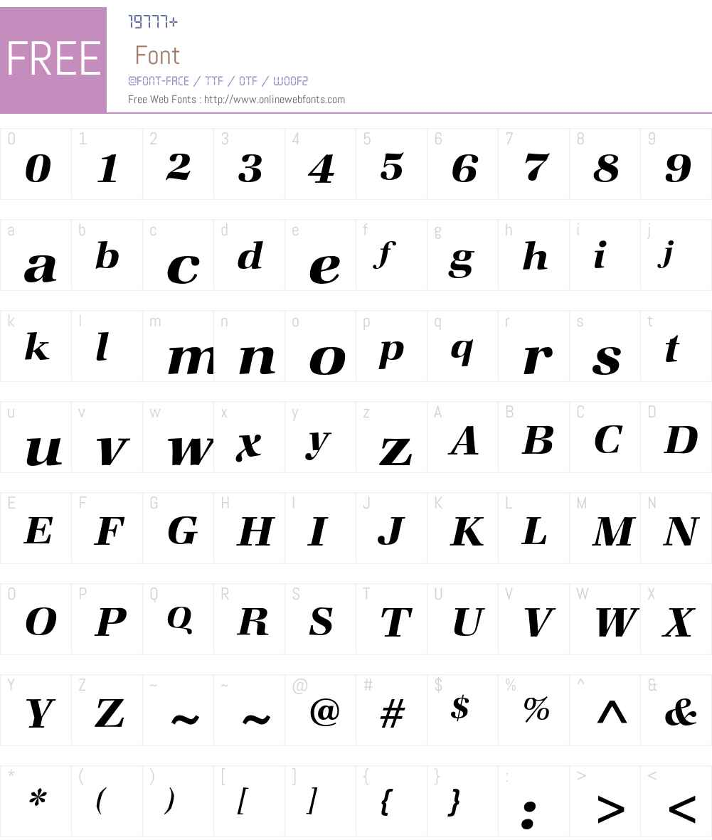 Zapf Book ITC Std Font Screenshots