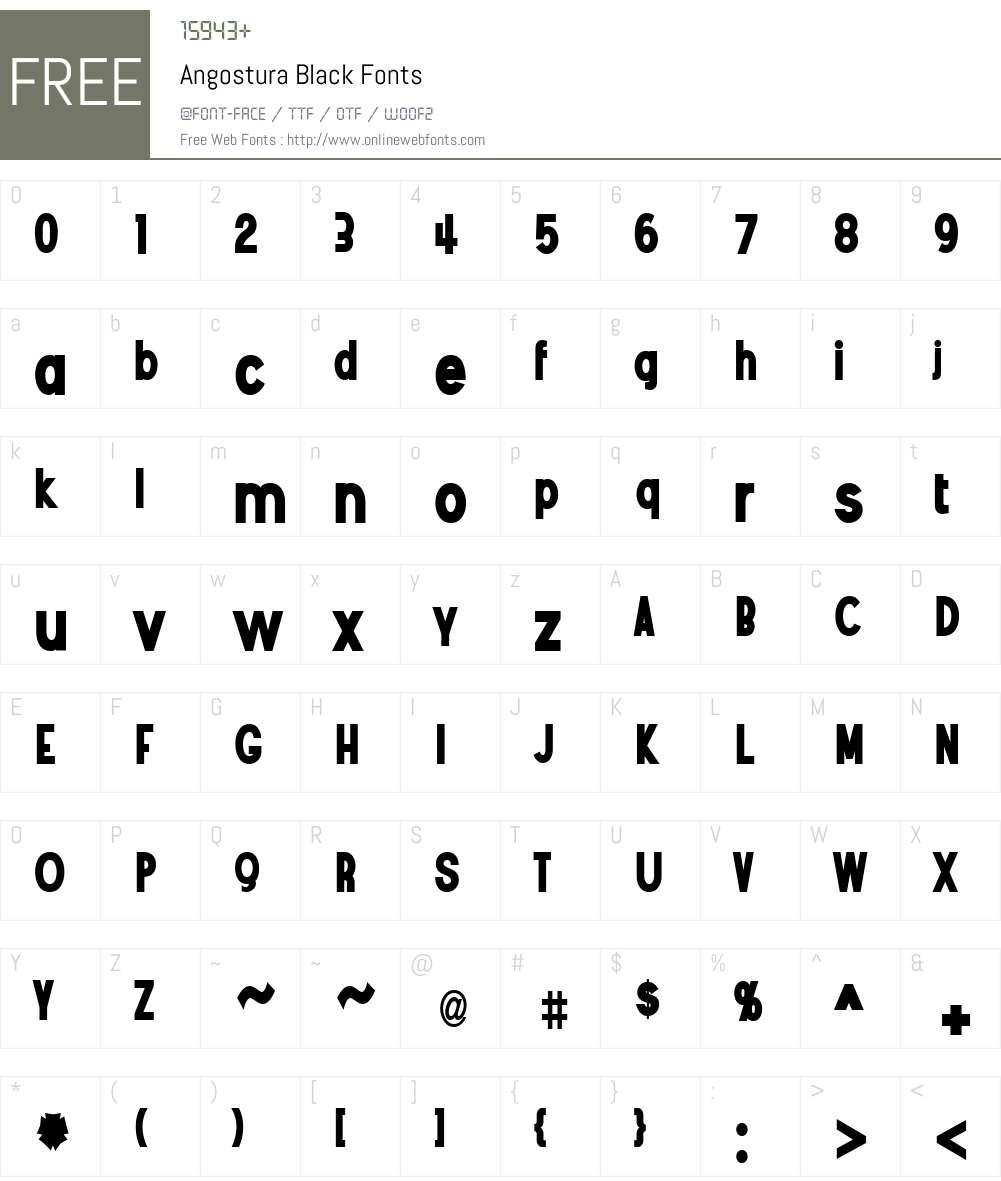 Angostura Black Font Screenshots