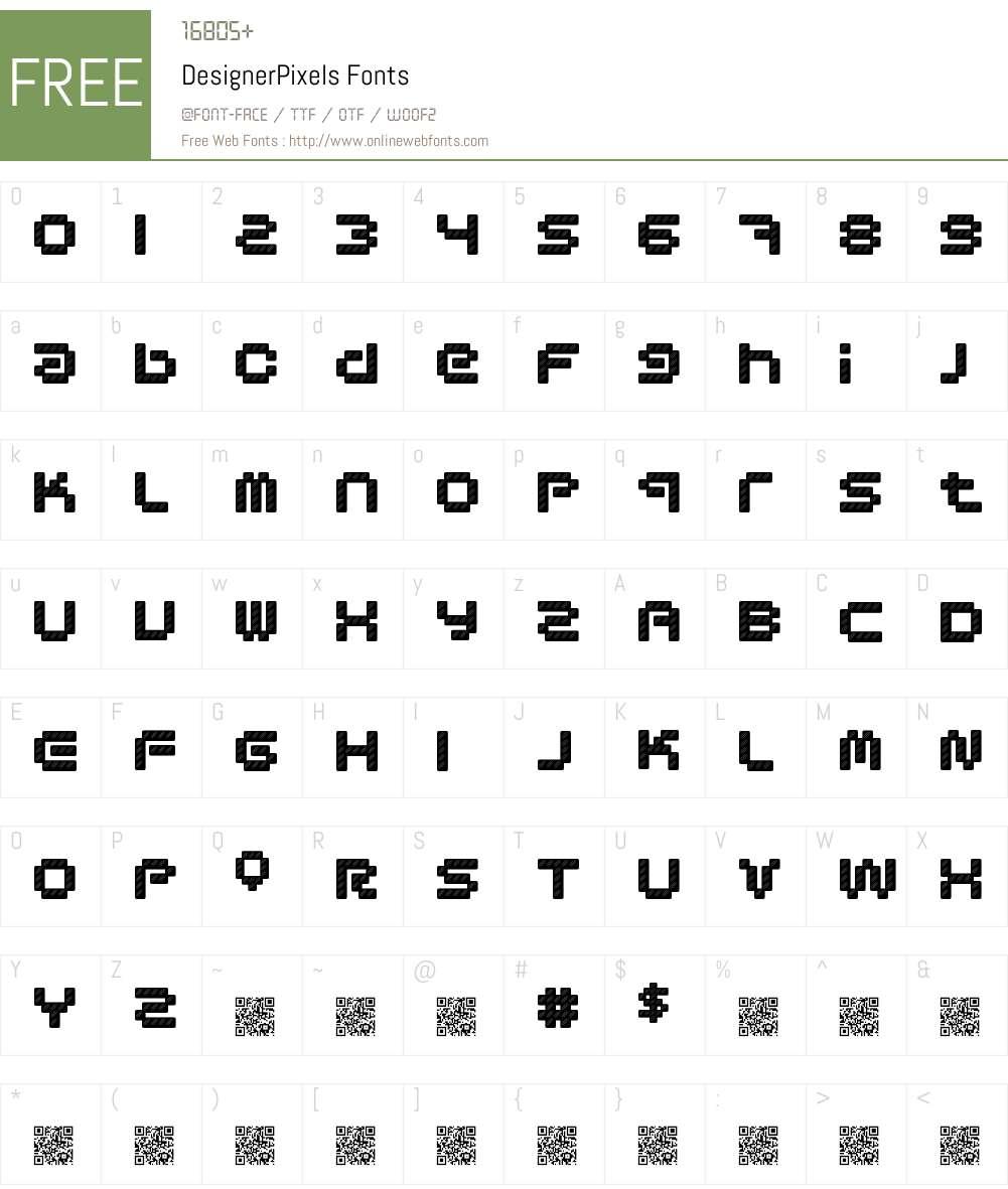 DesignerPixels Font Screenshots