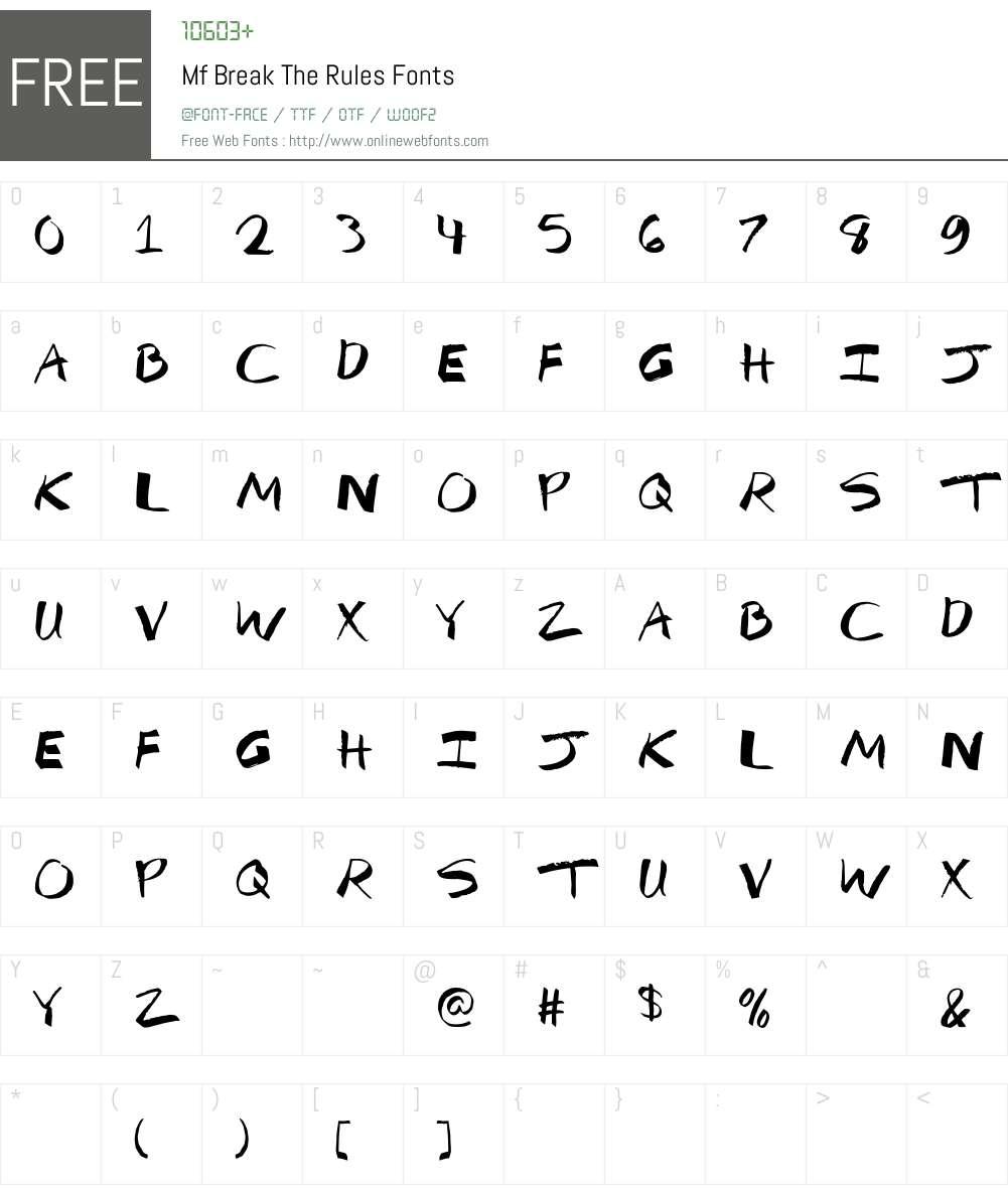 Mf Break The Rules Font Screenshots