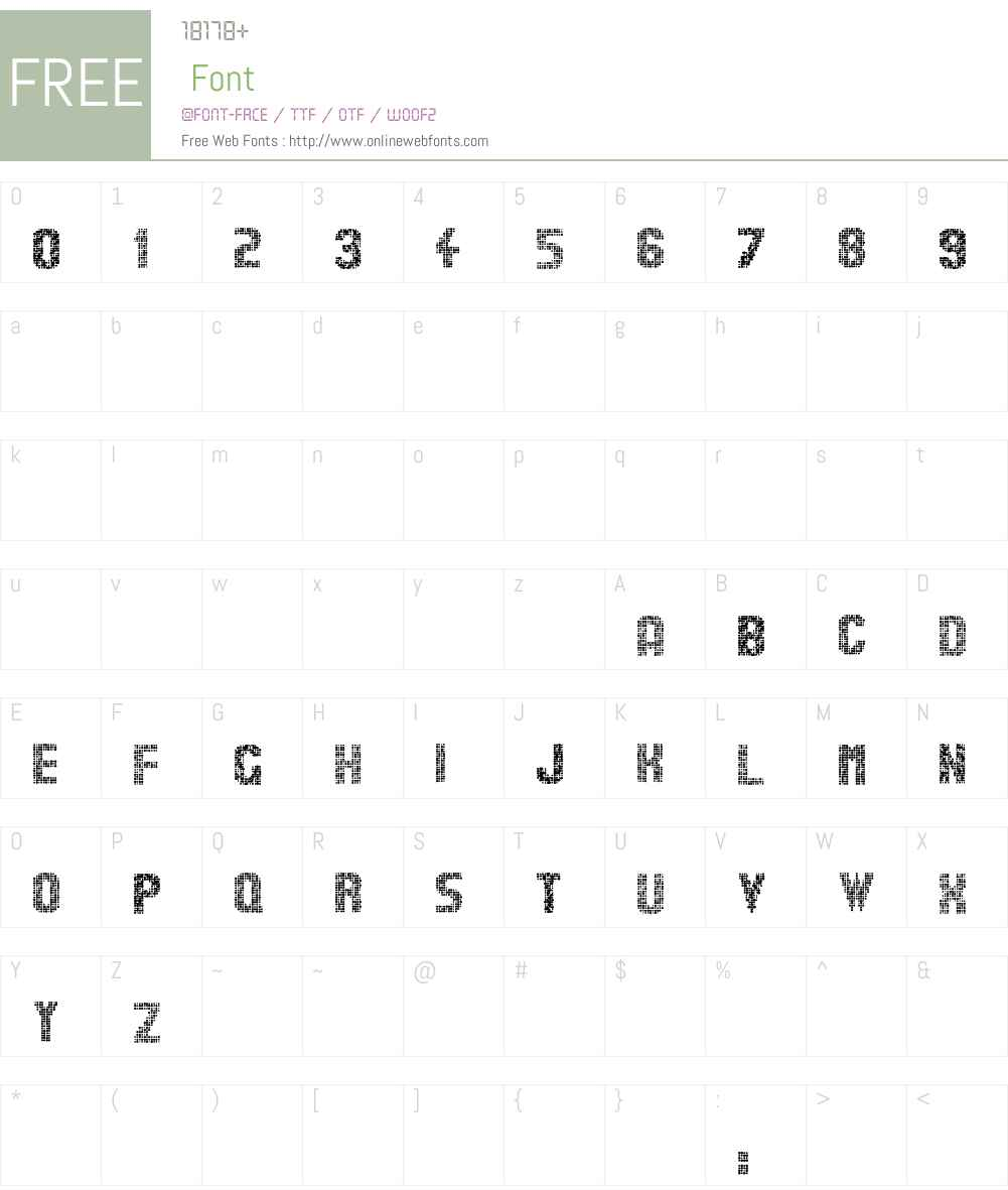 Stardots Font Screenshots