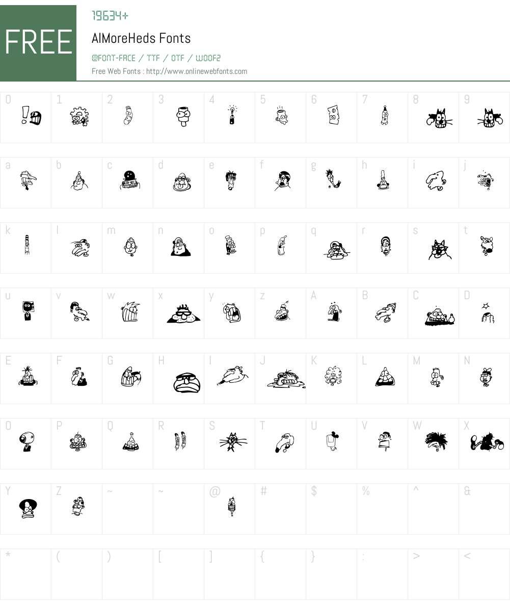 AIMoreHeds Font Screenshots