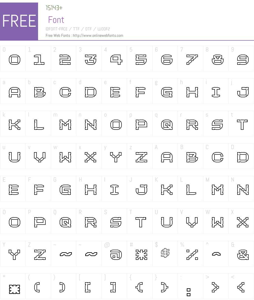 CorditeW00-Inline Font Screenshots