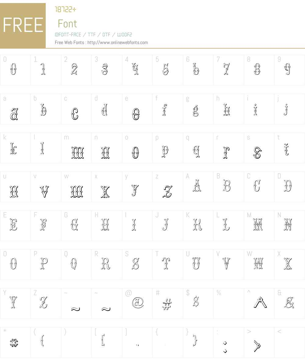 BruceDoublePica Beveled Font Screenshots