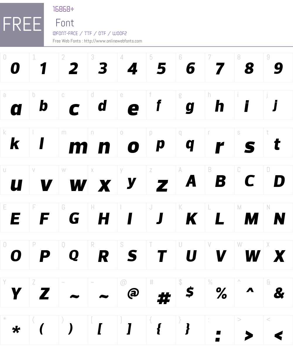 PreloW01-BlackItalic Font Screenshots