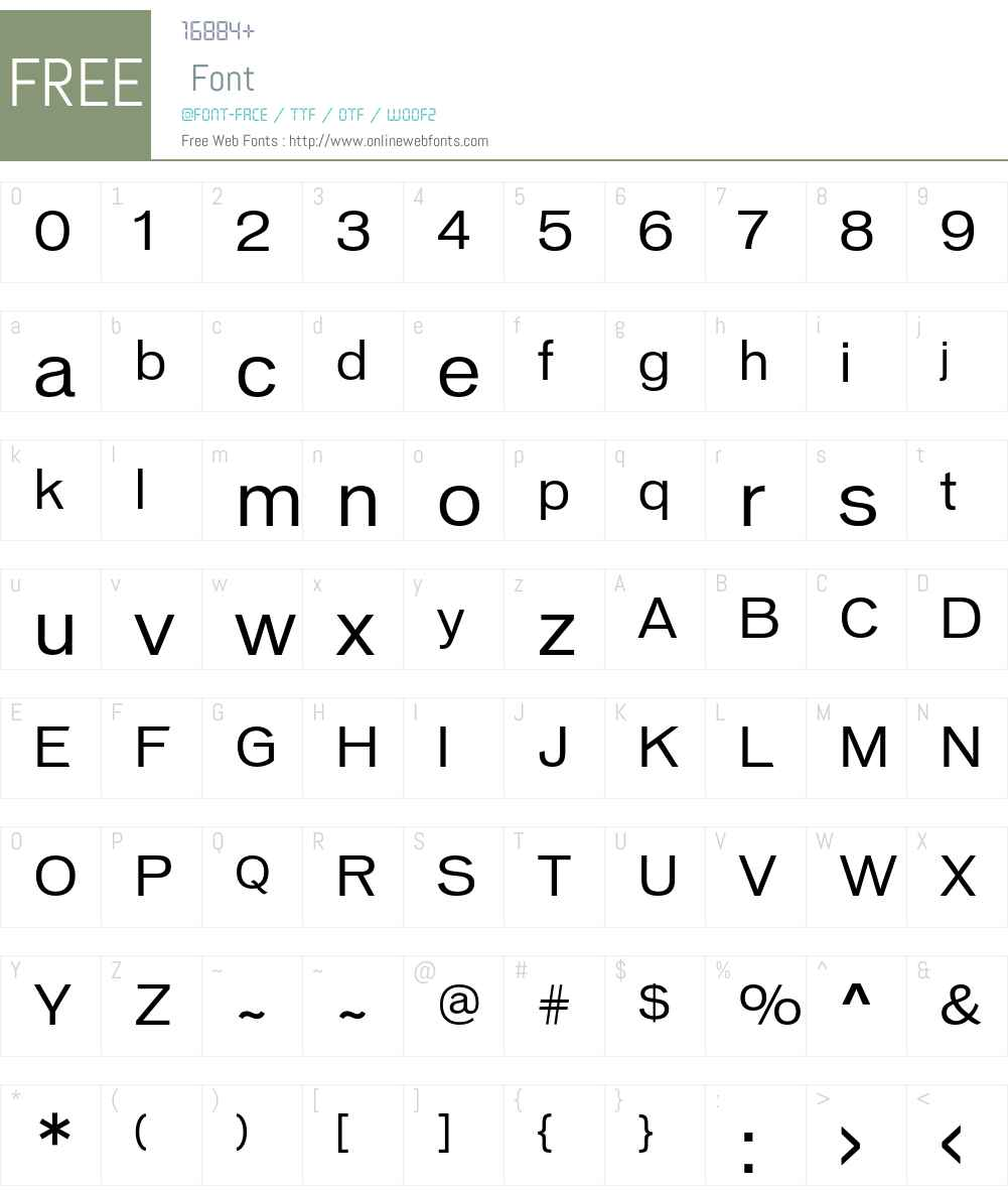 VonnesTTBook Font Screenshots