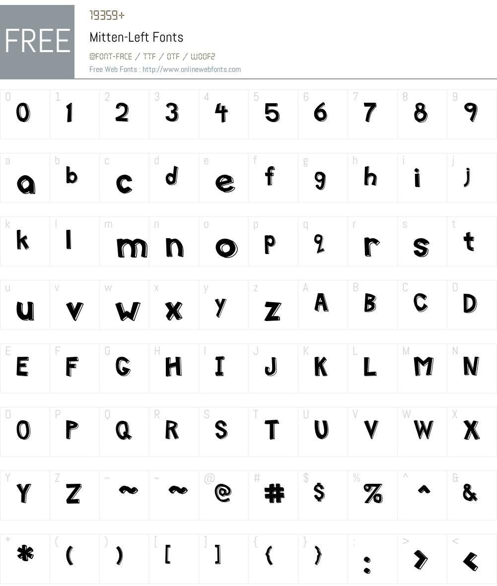 Mitten Font Screenshots