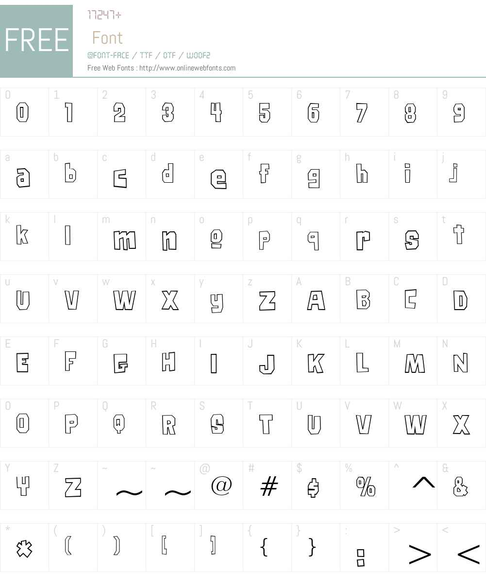 Big Chump BTN Cond Out Font Screenshots