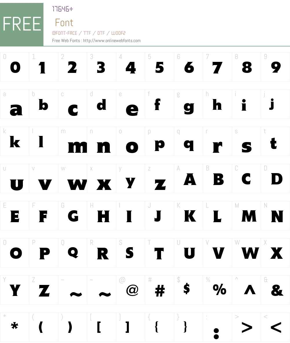 MemoW01-Bold Font Screenshots
