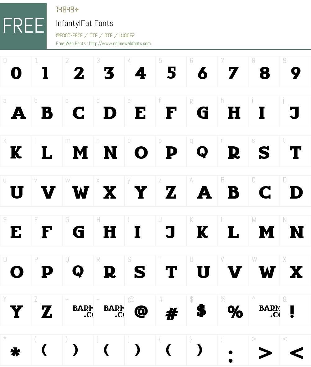 InfantylFat Font Screenshots