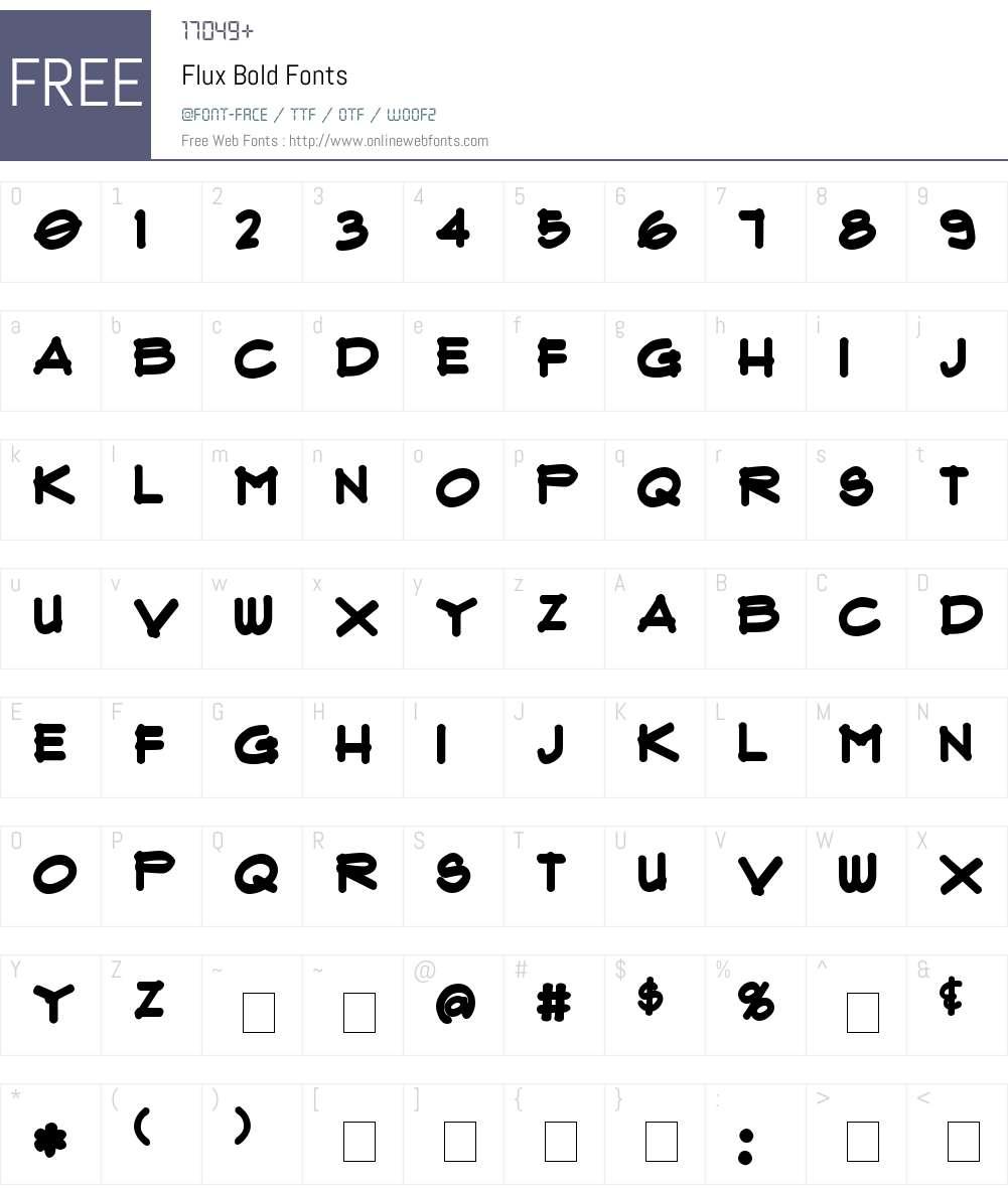 Flux Font Screenshots