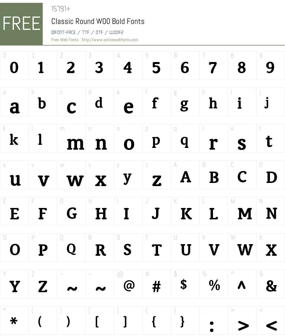 ClassicRoundW00-Bold Font Screenshots