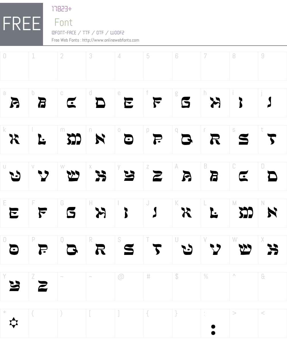 Peaceman Font Screenshots