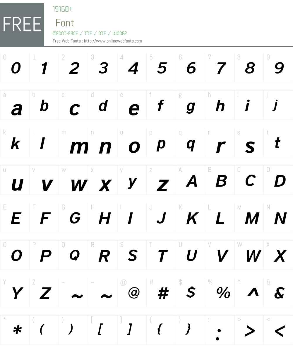 District Font Screenshots