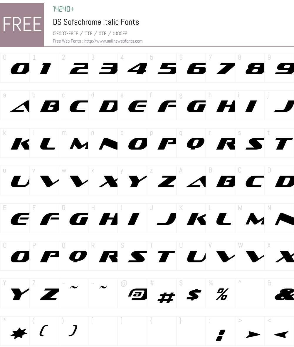 DS Sofachrome Font Screenshots