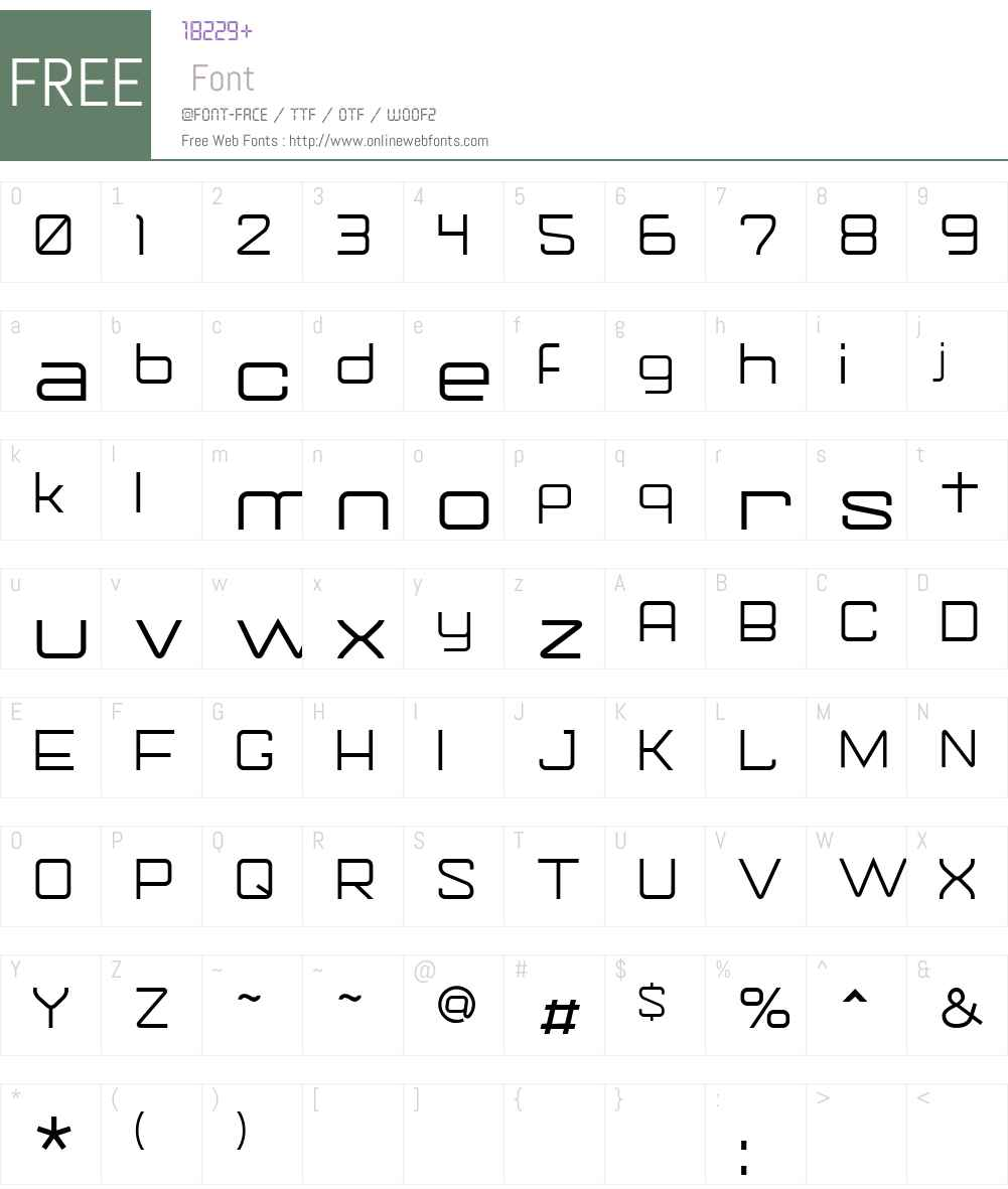 Gorila Font Screenshots