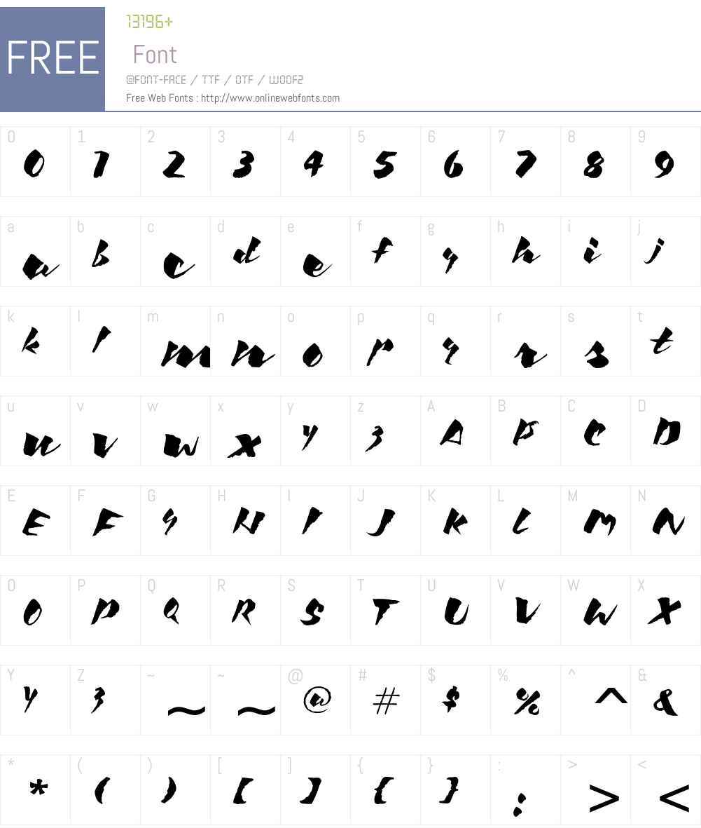 Kick ITC Font Screenshots
