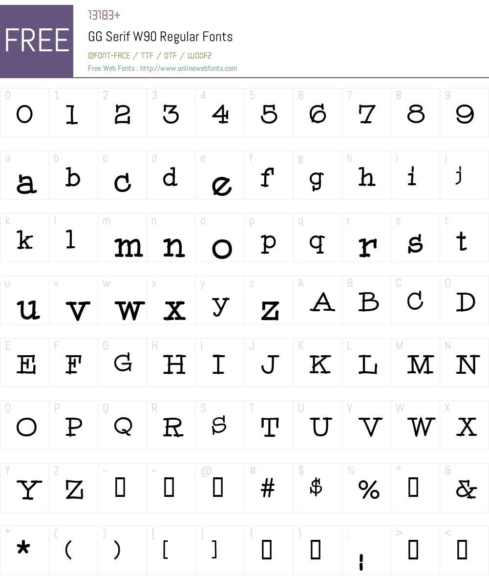 GG Serif Font Screenshots