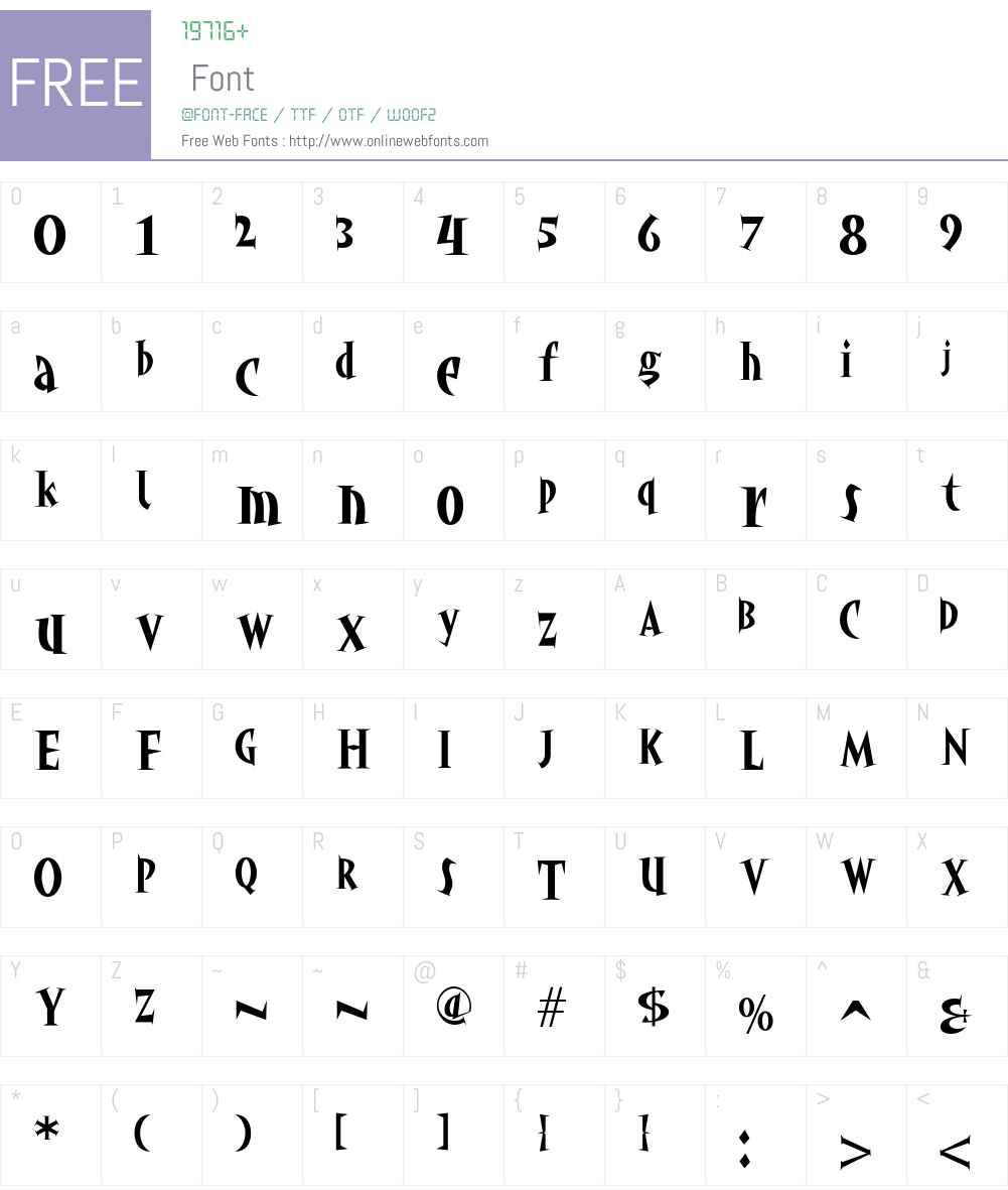 akaHoggle Font Screenshots