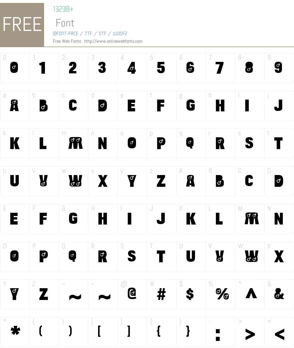 Bulltoad Male Font Screenshots