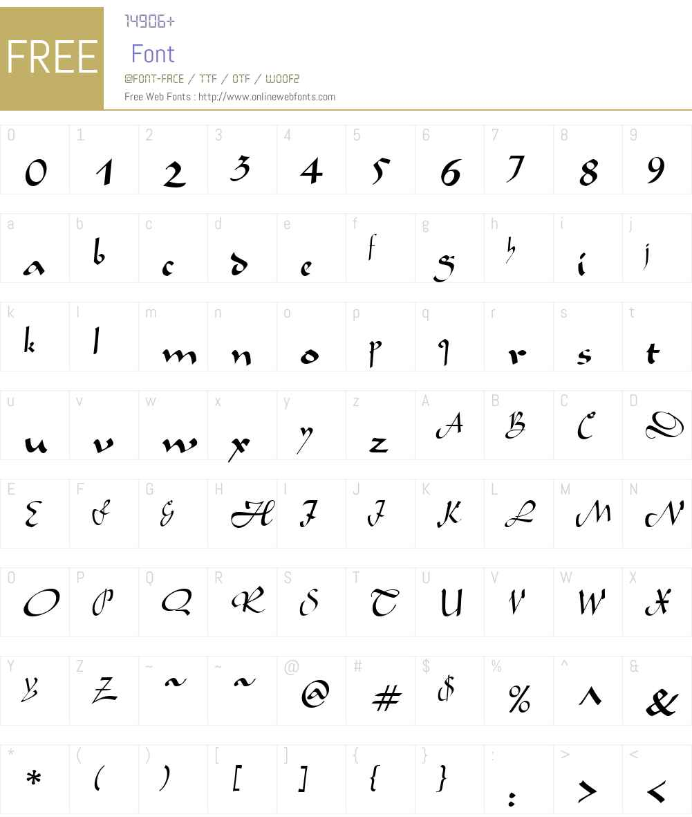 LegendeW01-Regular Font Screenshots