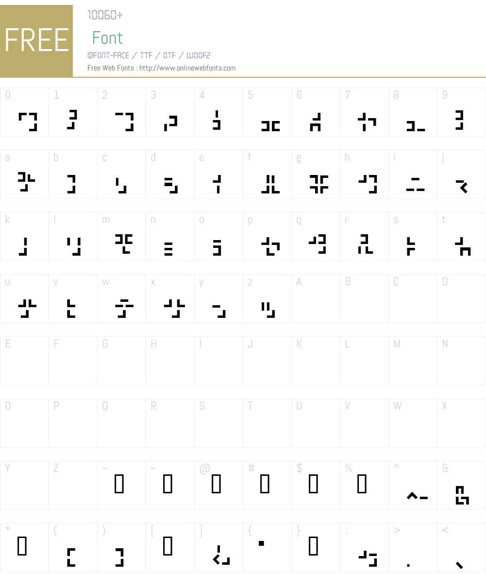321 Katakana Font Screenshots