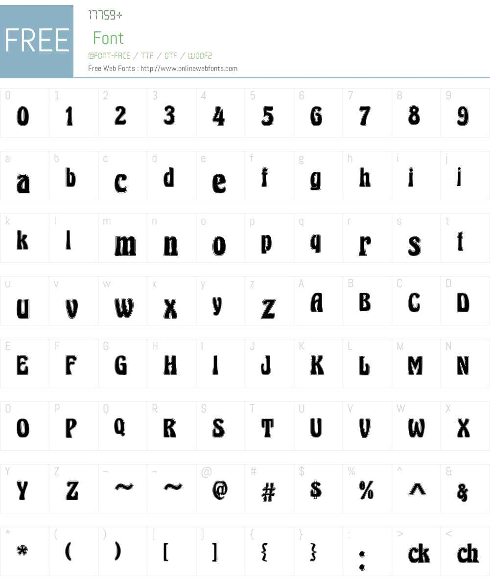 Herkules Font Screenshots